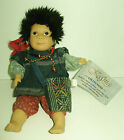 COLLECTOR PORCELAIN DOLL WITH TAGS ,KASMA HAND MADE ETHNIC PERUVIAN? VG+
