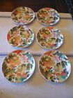 Pamela Gladding Santa Barbara Ceramic Autumn Fall Leaf Appetizer Plates..6