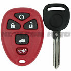 New Red Replacement Keyless Entry Remote Start Key Fob Clicker + Uncut Key