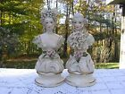 Gorday Porcelain Busts Colonial Woman & Man 1940s