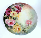 J. P. Limoges France 13 in. Hand Painted Floral Porcelain Platter / Tray /Plate