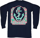 Southern Couture Tee Company Long Sleeve Pearl Anchor True Navy