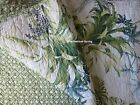 TOMMY BAHAMA TROPICAL 3pc F/QUEEN Quilt SET Blue Green Teal FLORAL LEAF COASTAL