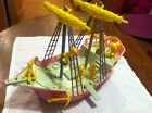 1953 Vintage IDEAL #4038 MICKEY MOUSE & FRIENDS PIRATE SHIP PLAYSET RARE!!!