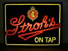 STROH'S NEON BEER SIGN VINTAGE BAR RESTAURANT ADVERTISING