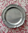 Vintage Small Pewter Plate - 6