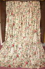 3rd  Vintage Custom French Country Victorian Chic Floral Drapes Curtains Fabric