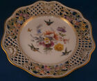 Antique 19thC Meissen Porcelain Reticulated Plate Count Bruehl Porzellan Teller
