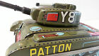 Tin Lithograph Y8 Patton Friction Tank by T.Y. Metal Toys  (Made In Japan)