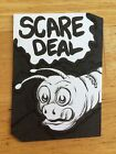 WACKY PACKAGES 2014 SHAPED SKETCH CARD SCARE DEAL MATTHEW KIRSCHT SCIENCE WORM