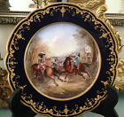ANTIQUE FRENCH SEVRES HAND PAINTED PLATE ,SIGNED BY J.MORIN ,S64,D 21cm
