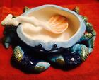 FITZ AND FLOYD OCEANA CRAB DISH/COCKTAIL SAUCE DISH-NEW
