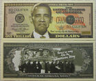 NObama Trillion Dollar Novelty Collector Bill Note with Protector