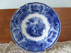 ANTIQUE FLOW BLUE BURGESS LEIGH MIDDLEPORT POTTERY NONPAREIL LARGE BOWL