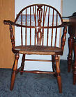 Beautiful Antique Hoop-back Windsor Chair - Rush Seat - Early 1900 's or Earlier