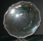 Antique Vintage Large Scalloped Silver Plate Footed Bowl Dish William Adams