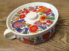Royal Crown Porcelain Ovenware Casserole PARADISE 3697  WITH LID flower bird