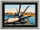 MICHAEL J. HARRELL Original OIL PAINTING on CANVAS Art SIGNED Fishing LANDSCAPE