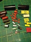 VINTAGE CAPACITOR LOT SPRAGUE ORANGE DROP WESTERN ELECTRIC VITAMIN