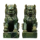 Pair large Chinese green glaze porcelain Foo Dog statues. Lot 62A