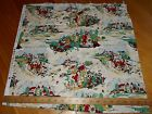 Red Rooster Fabric Sweet Adeline Vintage Style Toile Castle Men Women Cotton