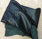 A4 Leather Cow Hide Cowhide Upholstery Craft Fabric Black