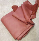 S4 Leather Cow Hide Cowhide Upholstery Craft Fabric Terra Cotta Red