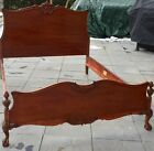Antique 1920s Carved French Cherry Bed - Full or Queen - Vintage Furniture