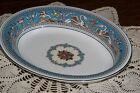 Wedgwood England - Florentine W2714 (Turquoise) - 10 1/8-inch Oval Serving Bowl