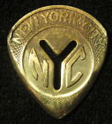 Guitar pick New York subway token non silver metal coin NYC pic