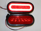 2 Trailer Truck 22 LED RED 6 Oval Stop Turn Tail Light Optronics Glo light
