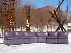 Original 6pc Arconas Leather Sectional Late 20th Century Modern Mourgue Style