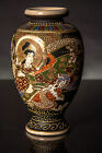 Japanese Satsuma Vase Dragon and Figures