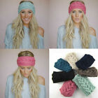 New Crochet Headband Knit Hairband Flower Winter Women Ear Warmer Head Wrap US