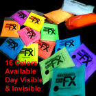 GLOW IN THE DARK Powder Pigment Slime Resin Coating Paint Fluorescent 51 options