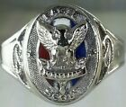 Vintage Boy Scout Eagle Ring SOLID 14K WHITE Gold BSA. LOWEST On Ebay Size 10.25