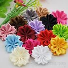 10 20 100pcs Lots Satin Ribbon Flowers Bows W Peal Rose Appliques 35mm A022