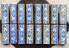 Antique Very Rare Set of 16 Spanish Delft Maiolica Tile Floral 17th C. Achterber