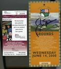 JACK NICKLAUS AUTO JSA Cert 100th U.S. Open Pebble Beach Ticket 6 14 2000