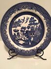 Set 3 Churchill Blue Willow Dinner Plate Fine English Tableware Micro/Dishwasher