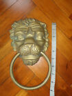 WONDERFUL OLD SOLID BRASS LION HEAD DOOR PULL