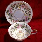 1953 Paragon Tea Cup & Saucer For The Coronation of Queen Elizabeth II  #A1440