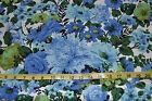 NEW BLOOMCRAFT ORIGINAL SCREENPRINT NORFIX FINISH BLUE  FLORAL FABRIC 7.4 YARDS