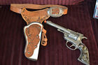 Vintage RARE 1955 HUBLEY TEXAN 38 With Rotating Cylinder and Leather Holster