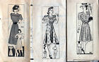 Lot of 21 Vintage Misses' Dress Patterns from 1930s-40s Mail Order