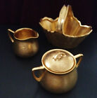 Wonderful Gold Pickard Rose & Daisy 481 Set with Nut Basket Tea Bags