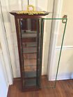Vintage Louis XVI Mahogany Display Cabinet with Glass Shelves