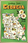 Greetings From GEORGIA Poster Peach State Retro Travel Art Print 264