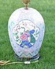 QING DYNASTY ANTIQUE FAMILLE PORCELAINE GINGER JAR LAMP RARE HEXAGON SHAPE