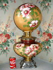 c 1905 JUMBO Pittsburgh GWTW Parlor Banquet Lamp ROSES 12 Shade Antique